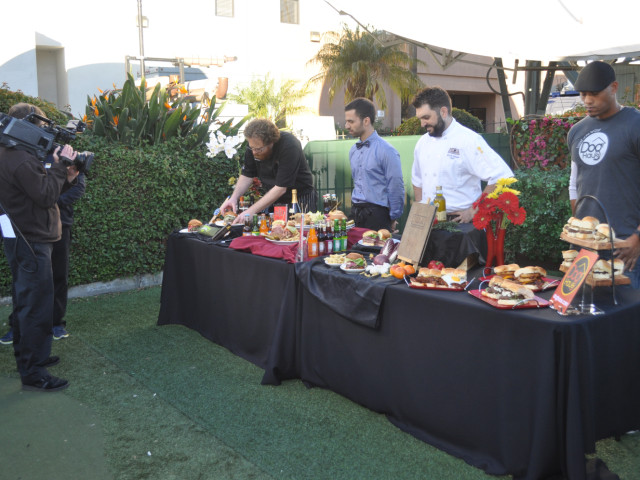 Promoting Cheeseburger Week 2014, Haven Gastropub + Brewery, New York Deli, Trattoria Neapolis and Dog Haus appeared on the KTLA Morning News.