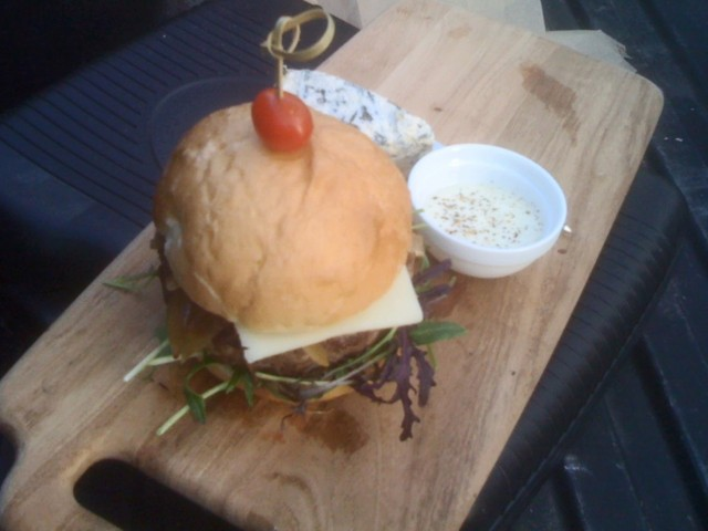Dry-Aged Burger at Kings Row Gastropub